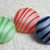 3 pc Candy Striped Glass Buttons Vintage 1950's
