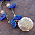 Cobalt Leaves and Flowers Necklace