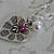 HEART Ruby PEARL Charm Hill Tribe Silver Necklace