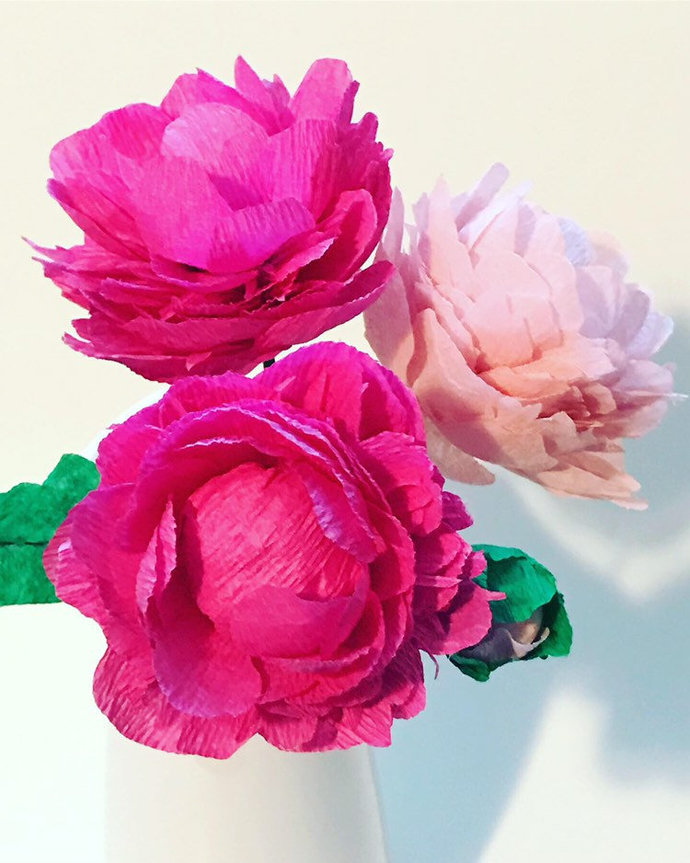 Beautiful Paper Flower, our Signature Paper Peony!