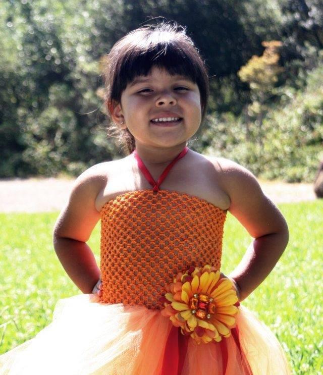 Sunrise fall autumn holiday red orange golden yellow girls toddler custom tutu