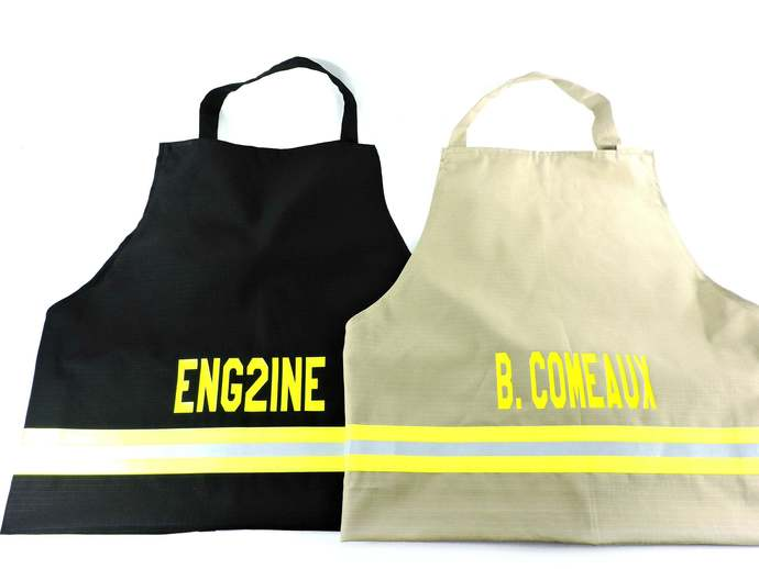 Firefighter Personalized BBQ Apron, Regular or Large Apron, Gift For Him, Tan or
