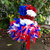Red white and blue patriotic usa america floral top feather tutu girls pageant