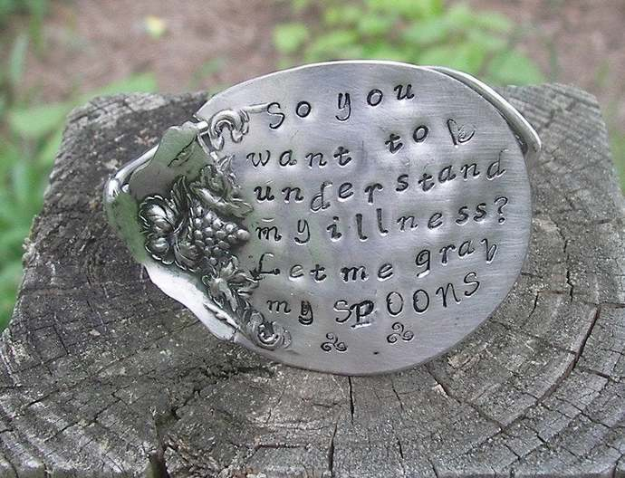 spoon bracelet for Illness awareness, spoon theory braclet for arthritis and