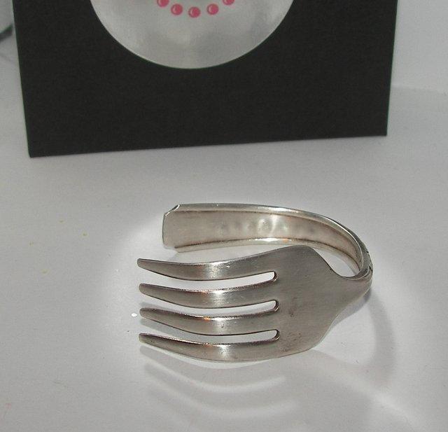vintage fork braclet for kids, custom silverware cuff bracelet, kids cuff
