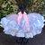 Ribbon edge ruffled girls toddler pink white cake smash photo prop tutu