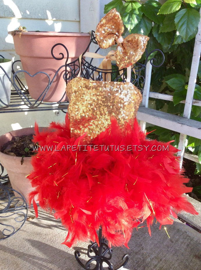 Sequin satin lined feather couture pageant outfit of choice easter dress cake