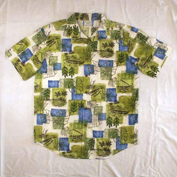 Green Canoes Aloha Shirt - Sizes M, L