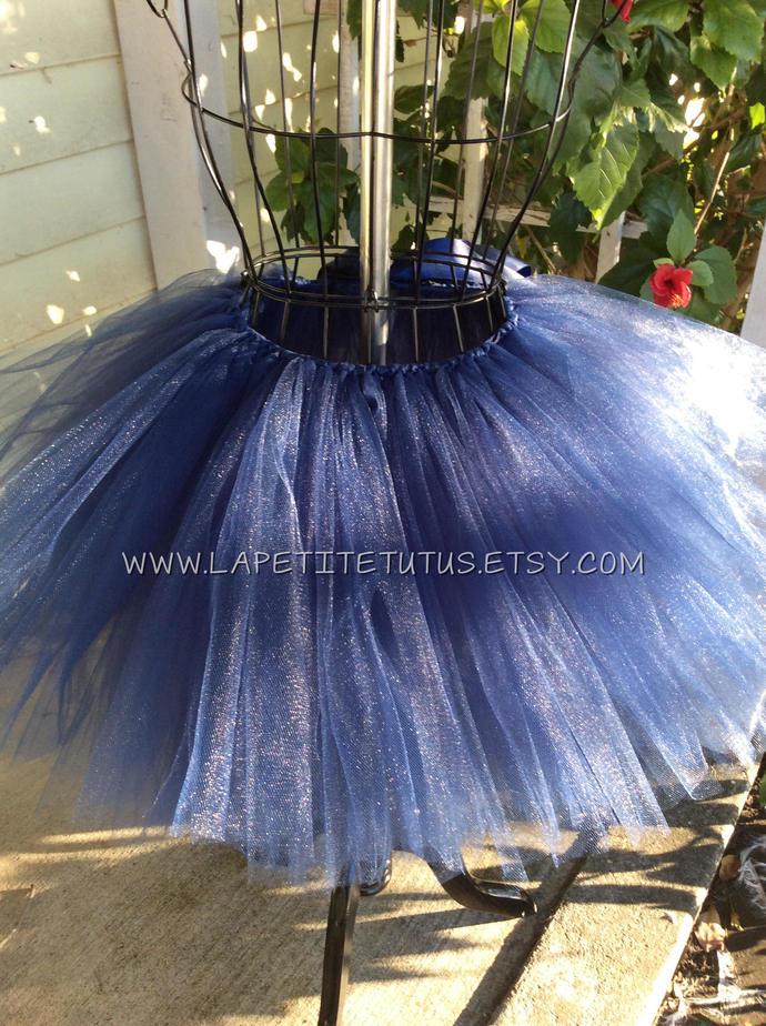 Navy blue girls toddler tutu cake smash photo prop handmade flower girl wedding