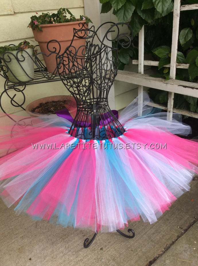 Multi color tutu for girls toddler cake smash photo prop halloween accessory