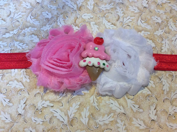 Ice cream theme center girls toddler baby birthday cake smash photo prop