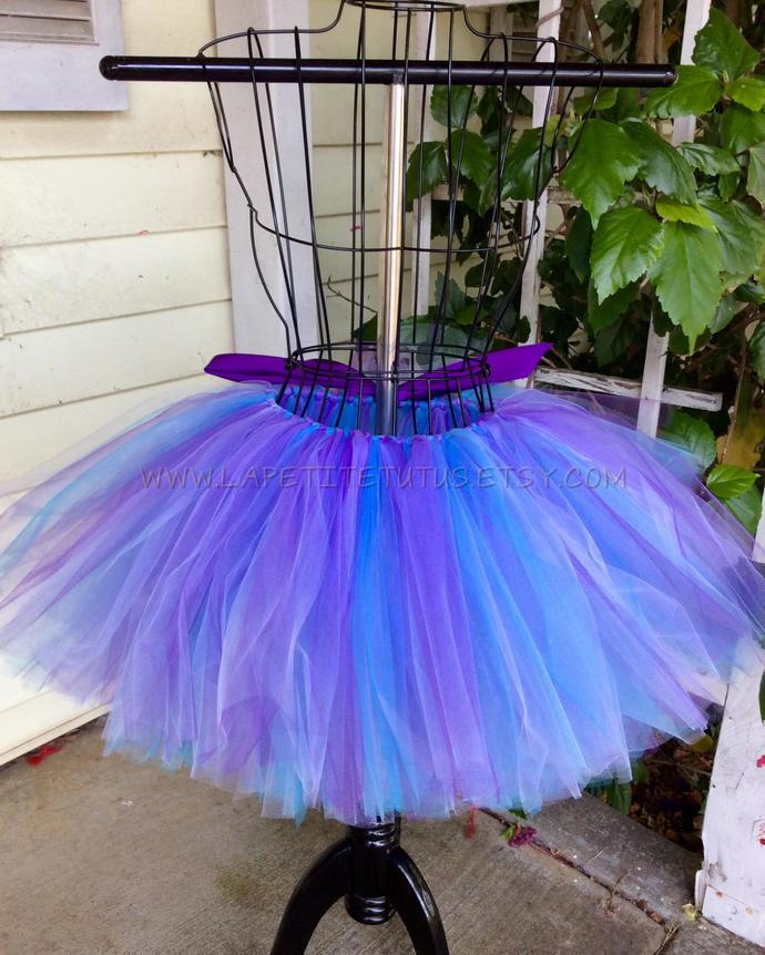 Multi color tutu for girls toddler birthday cake smash photo prop