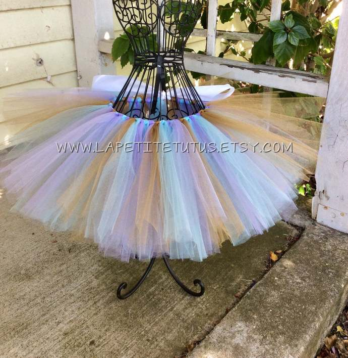 Mermaid theme girls toddler tutu photo prop birthday cake smash custom color