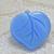 Blue Glass DIG Button Leaf Realistic Vintage 50s