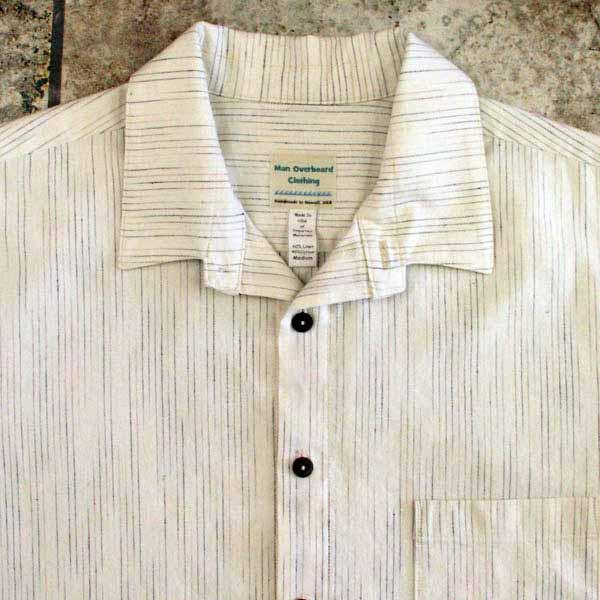 Cream Pinstripe Shirt - Size M, L, XL