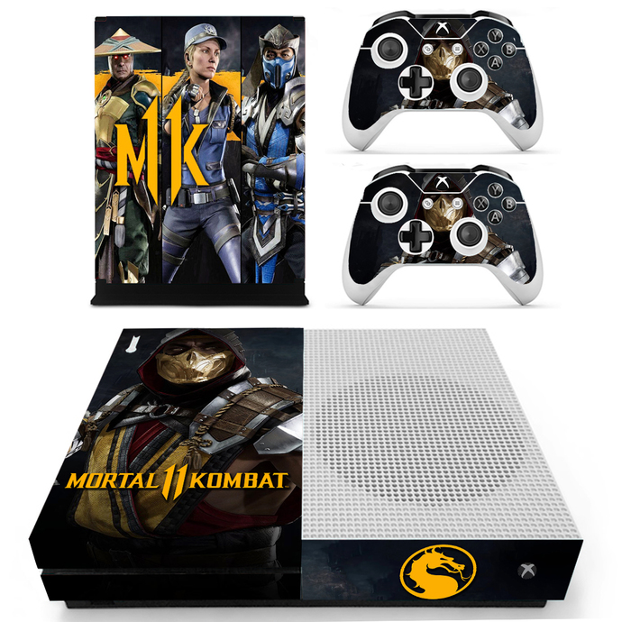 Mortal Kombat 11 Xbox 1 S Skin for Xbox one S Console & Controllers