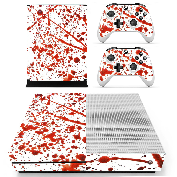 Bloods Drops Xbox 1 S Skin for Xbox one S Console & Controllers