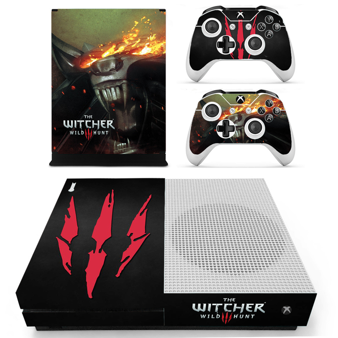 The Witcher wild Hunt Xbox 1 S Skin for Xbox one S Console & Controllers