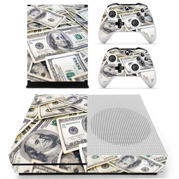 US dollars Xbox 1 S Skin for Xbox one S Console & Controllers