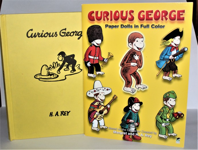 Curious George Paper Dolls in Full Color & Curious by George H A Rey
