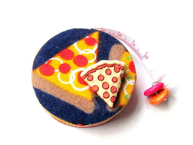 Tape Measure Hot Pizza Slices Retractable Measuring Tape
