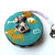 Tape Measure Mixed Dogs on Teal Retractable Measuring Tape