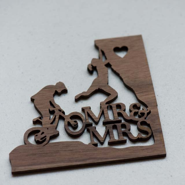 Outdoor Couple Wedding Laser Cut Sign or Topper