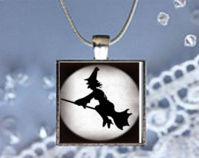 Pendant Necklace Halloween, Witch