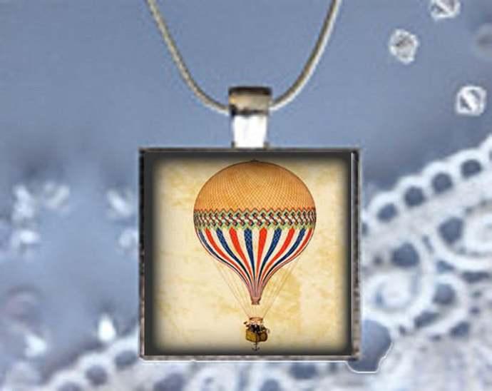 Pendant Necklace Hot Air Ballon