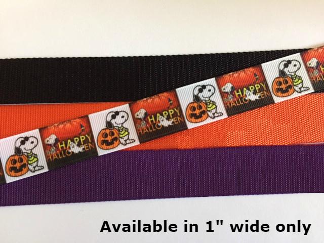"Halloween, Snoopy, Beagle, Joe Cool 1"" wide adjustable Dog Collar or Leash with"
