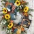 Fall Wreaths, Fall Wreaths for Front Door, Large Wreath, Sunflower Wreath,