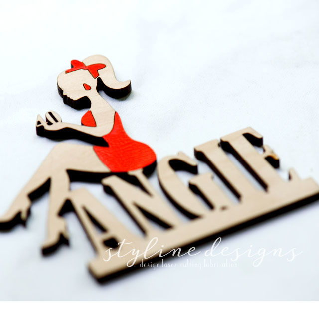 Custom Age Personalized Name Birthday Laser Cut Sign or Topper