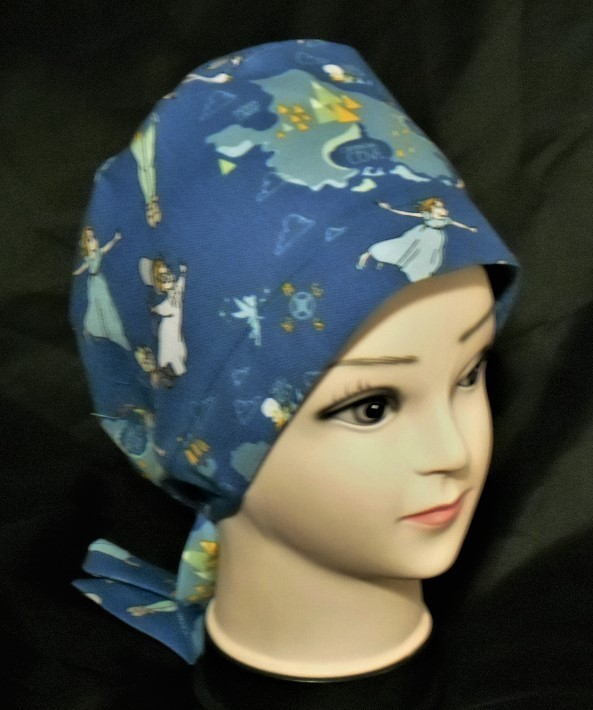 Handmade Disney Peter Pan And Windy Scrubs Hats Pixie Tie Back Scrub Caps