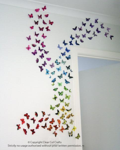 100 pack of Butterflies for Wall art, Bedrooms, Nurseries, Weddings