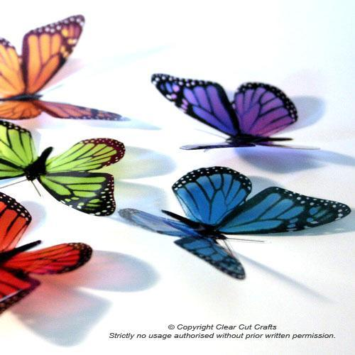 12 pack of B001S Monarch Butterflies for Weddings, Decorations, Nurseries,