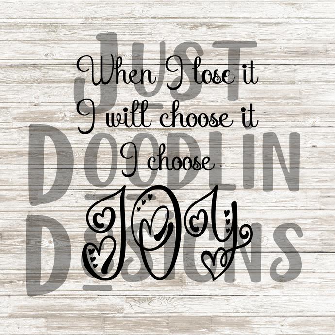 Choose Joy SVG file