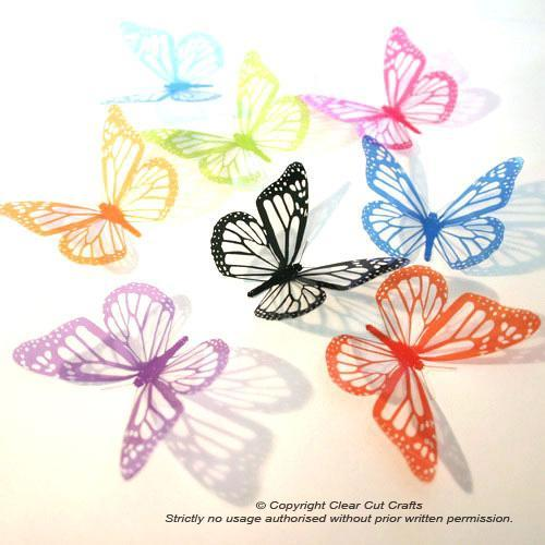 12 pack of B001SC Monarch Butterflies for Weddings, Decorations, Nurseries,