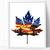 Leaf silhouette Modern Cross Stitch Pattern, starry night, nature, galaxy,