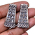 925 Sterling Silver Handmade Bali Oxidized Triangular Multi strand connector -3