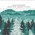 Bear silhouette modern cross stitch pattern, winter, snow, nature, landscape,