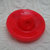 Red Glass Fleur de lis Button Vintage 1950s
