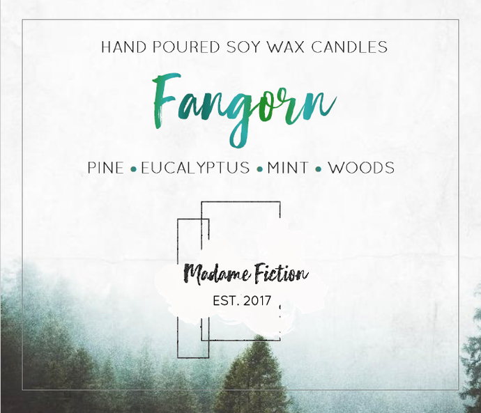 Fangorn - 8oz Candle - LOTR Inspired - Scented Soy Candle - Book Lover Gift