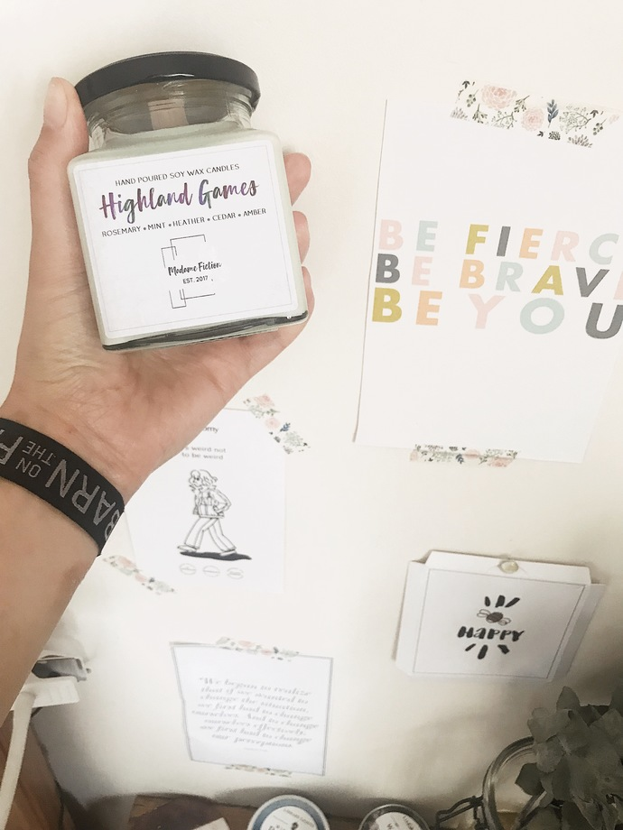 Highland Games - 8oz Candle - Brave Inspired - Scented Soy Candle - Book Lover