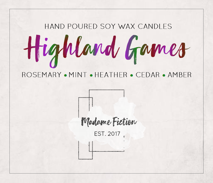 Highland Games - 1.5oz Candle - Brave Inspired - Scented Soy Candle - Book Lover