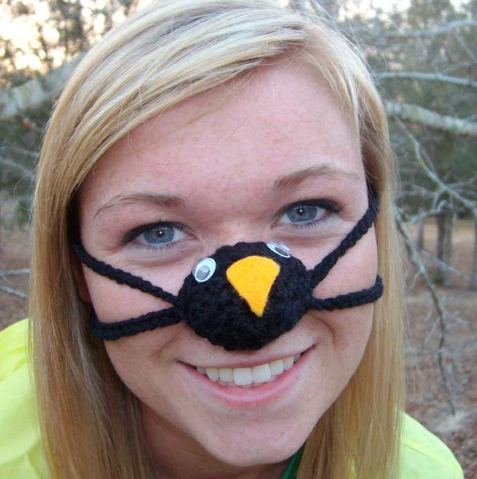 NOSE WARMER Penguin  Frozen Nose Cozy Unisex  Silly Fun Gift Idea Indoors or