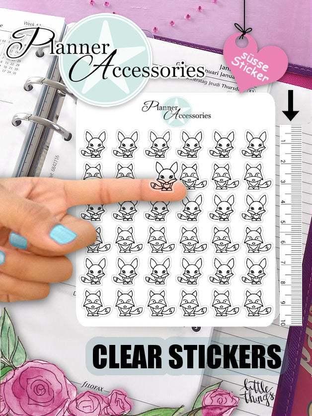 Clear Fox Stickers 420