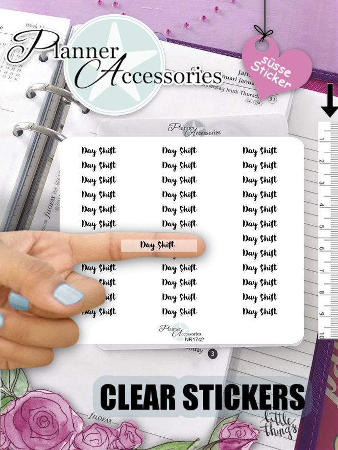 Day Sift Stickers, Day Shift Planner, Stickers, Text Stickers, Icon Stickers,