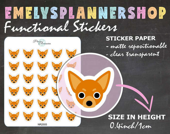 Chihuahua Head Puppy Stickers 2505