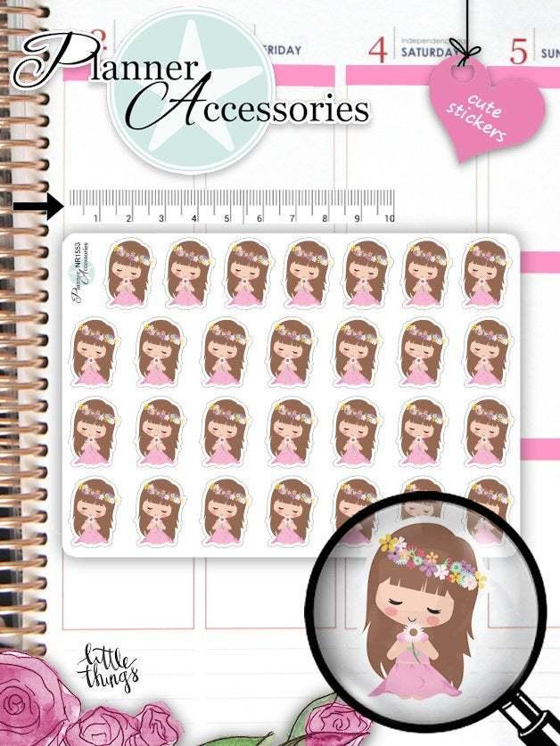 Girl Spring Planner Stickers 1553