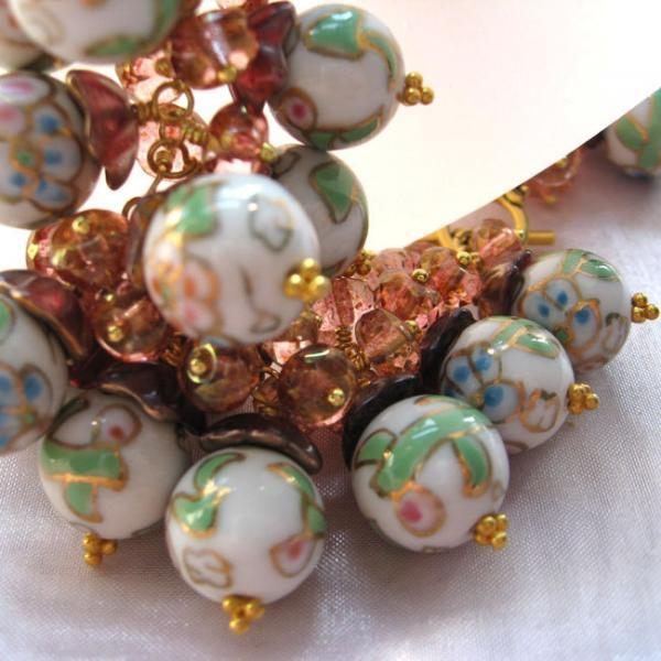 Rose Porcelain Beads Bracelet, Homer's Young Dawn